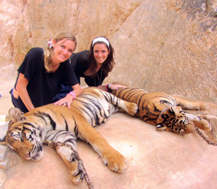 Kaela and Summer with their Tigres
